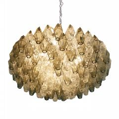 Carlo Scarpa Suspension Lamp Model Poliedri Designed by Carlo Scarpa and Edited by Venini - 1036337