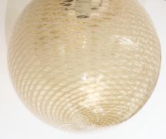 Carlo Scarpa Venini 1930s reticello glass globe chandelier - 1014026