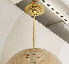 Carlo Scarpa Venini 1930s reticello glass globe chandelier - 1014030