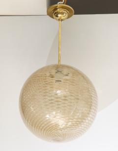 Carlo Scarpa Venini 1930s reticello glass globe chandelier - 1014032