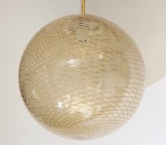 Carlo Scarpa Venini 1930s reticello glass globe chandelier - 1014033