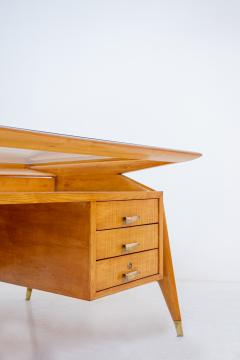 Carlo de Carli Carlo di Carli Carlo De Carli Important Desk in wood glass and brass 1950s published - 1888801