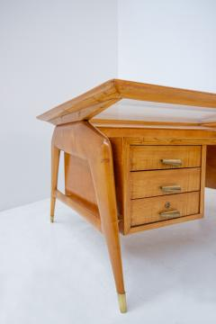 Carlo de Carli Carlo di Carli Carlo De Carli Important Desk in wood glass and brass 1950s published - 1888815