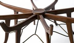 Carlo de Carli Italian Modern Mahogany Steel and Glass Coffee Table - 1009788