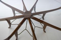 Carlo de Carli Italian Modern Mahogany Steel and Glass Coffee Table - 1009790
