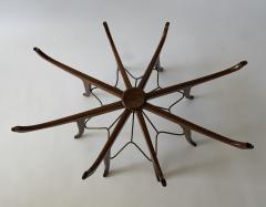 Carlo de Carli Italian Modern Mahogany Steel and Glass Coffee Table - 1009792