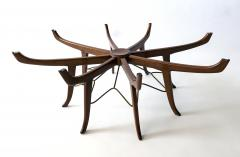 Carlo de Carli Italian Modern Mahogany Steel and Glass Coffee Table - 1009797