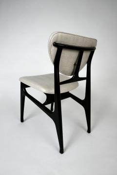 Carlo di Carli Italian Modern Ebonized and Faux Snake Skin Upholstered Chairs Carlo Di Carli - 852289