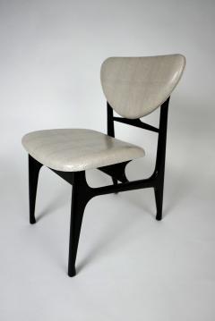 Carlo di Carli Italian Modern Ebonized and Faux Snake Skin Upholstered Chairs Carlo Di Carli - 852292