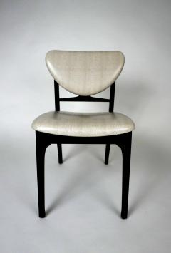 Carlo di Carli Italian Modern Ebonized and Faux Snake Skin Upholstered Chairs Carlo Di Carli - 852293