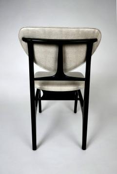 Carlo di Carli Italian Modern Ebonized and Faux Snake Skin Upholstered Chairs Carlo Di Carli - 852298