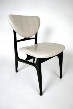 Carlo di Carli Italian Modern Ebonized and Faux Snake Skin Upholstered Chairs Carlo Di Carli - 852299