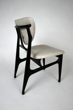 Carlo di Carli Italian Modern Ebonized and Faux Snake Skin Upholstered Chairs Carlo Di Carli - 852300