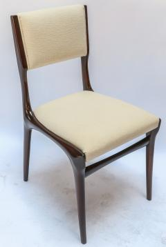 Carlo di Carli Set of 12 Carlo de Carli Dining Chairs in Ivory Linen 1950s - 1177834