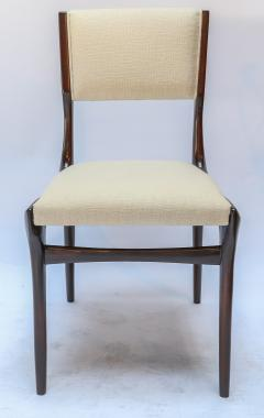Carlo di Carli Set of 12 Carlo de Carli Dining Chairs in Ivory Linen 1950s - 1177835