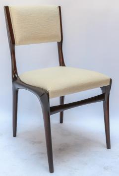 Carlo di Carli Set of 12 Carlo de Carli Dining Chairs in Ivory Linen 1950s - 1177837