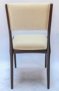 Carlo di Carli Set of 12 Carlo de Carli Dining Chairs in Ivory Linen 1950s - 1177838