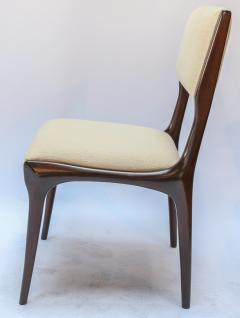Carlo di Carli Set of 12 Carlo de Carli Dining Chairs in Ivory Linen 1950s - 1177839