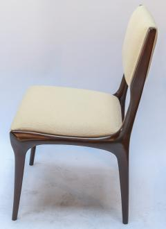 Carlo di Carli Set of 12 Carlo de Carli Dining Chairs in Ivory Linen 1950s - 1177840