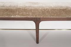 Carlos Solano Granda Natural Walnut Linear Bench by Stamford Modern - 2131177