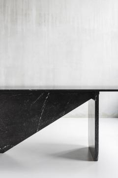 Carlyle Collective Black Marquina Dining Table - 570070