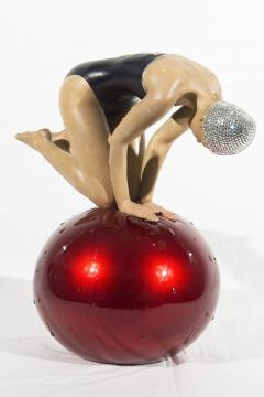 Carole Feuerman Miniature Quan with Red Ball and Swarovski Crystal - 1215995