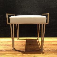 Carole Gratale V Leg bench Satin bronze base Leather upholstered seat - 1656200