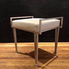 Carole Gratale V Leg bench Satin bronze base Leather upholstered seat - 1656209