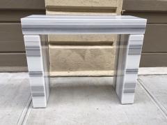 Carrara Marble Console Fireplace Mantel - 458602
