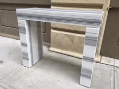 Carrara Marble Console Fireplace Mantel - 458606
