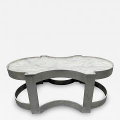 Carrara Marble and Chrome Two Tier Coffee Table - 1943271