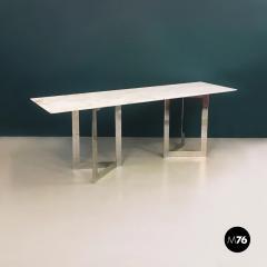 Carrara marble top console 1970s - 1936016