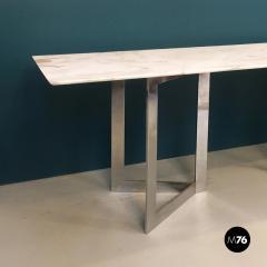 Carrara marble top console 1970s - 1936044