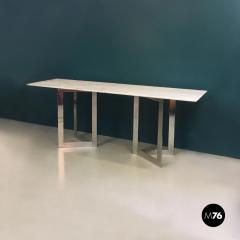 Carrara marble top console 1970s - 1936045