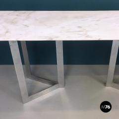 Carrara marble top console 1970s - 1936046
