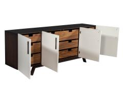 Carrocel Interiors Custom Modern Brass and Walnut Sideboard by Carrocel - 1526472