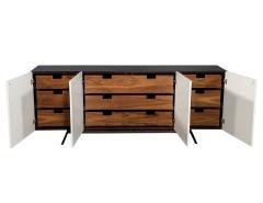 Carrocel Interiors Custom Modern Brass and Walnut Sideboard by Carrocel - 1526473
