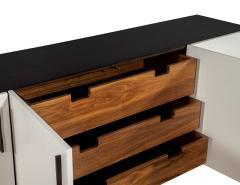 Carrocel Interiors Custom Modern Brass and Walnut Sideboard by Carrocel - 1526476
