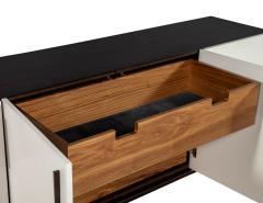 Carrocel Interiors Custom Modern Brass and Walnut Sideboard by Carrocel - 1526477
