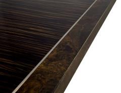 Carrocel Interiors Modern Square Walnut Dining Table with Macassar Ebony Inlay - 1527079