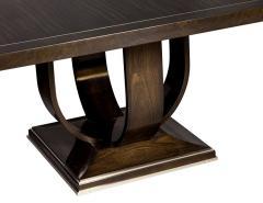 Carrocel Interiors Modern Square Walnut Dining Table with Macassar Ebony Inlay - 1527081