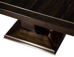 Carrocel Interiors Modern Square Walnut Dining Table with Macassar Ebony Inlay - 1527083