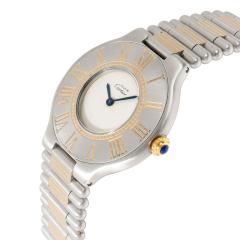 Cartier 21 21 Unisex Watch in Stainless Steel Gold Plate - 1365295