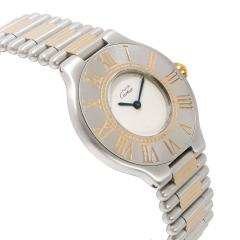 Cartier 21 21 Unisex Watch in Stainless Steel Gold Plate - 1365296