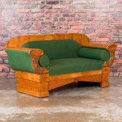 Carved Antique 19th Century Danish Birch Biedermeier Sofa - 919303