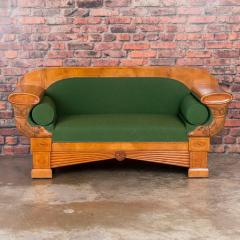 Carved Antique 19th Century Danish Birch Biedermeier Sofa - 919308