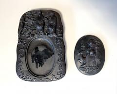 Carved Chinese Inkstone with Longevity Symbols and Marks - 1847397