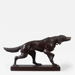 Carved Figure of a Setter Pointing - 126338