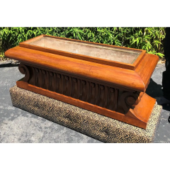 Carved Italian Neoclassical Mahogany Metamorphic Window Bench Jardiniere - 2029703