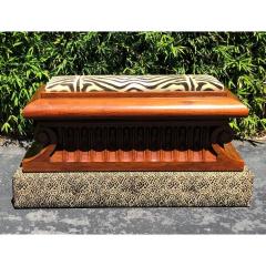 Carved Italian Neoclassical Mahogany Metamorphic Window Bench Jardiniere - 2029706